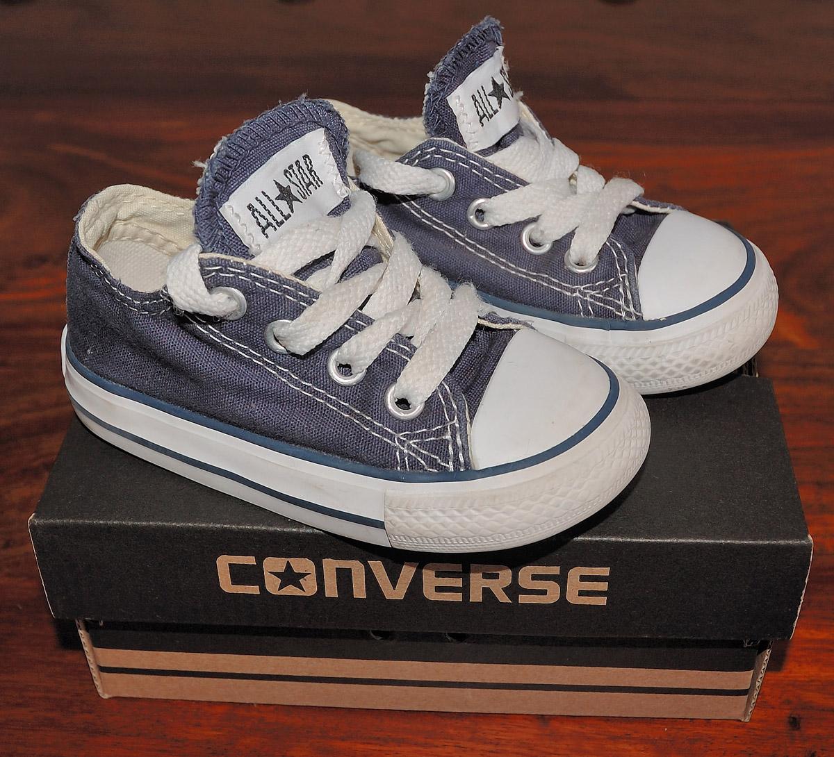 Infant Girls Boys Blue Converse All Star Plimsolls Uk 5 Eu 21 Vgc Ebay